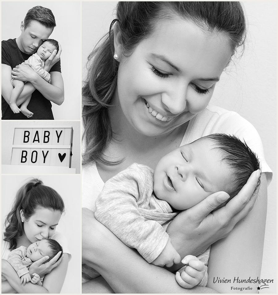 Newbornfoto mit Mama und Papa